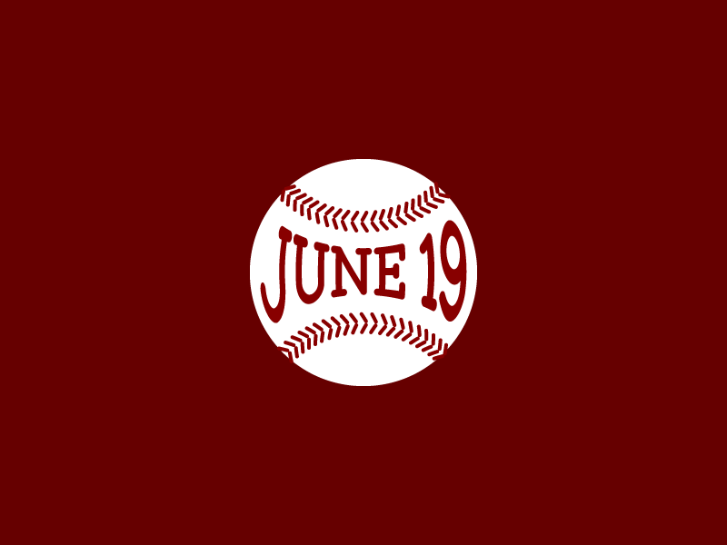 June 19 baseball date datetypography number typography jun june nineteenth nineteen 19th 19