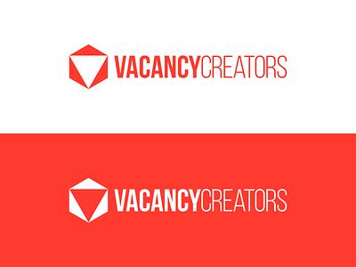 VacancyCreators Logo Concept 1 triangle creator concept design hexagon vacancy creators box logo