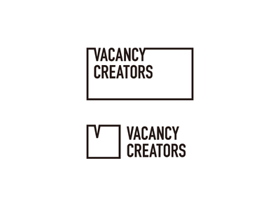 VacancyCreators Logo Concept 3 concept square rectangle design chat minimal creator creators vacancy box