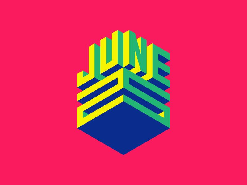 June 25 color typography datetypography date number 25 jun june