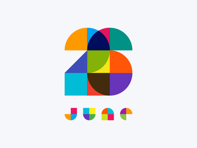 June 26 june 26 color colorful number date typography datetypography
