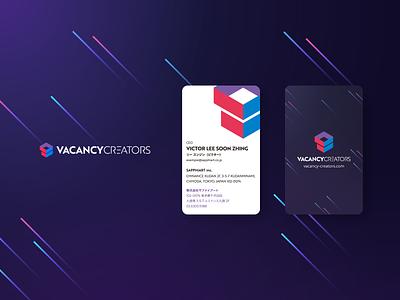 VacancyCreators Logo & Business Card box card businesscard business card logo