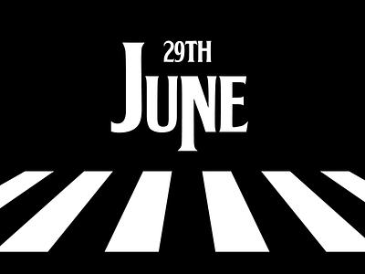 June 29 date beatles datetypography typography