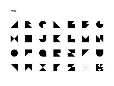 KTRZ logo design minimal font design typography font