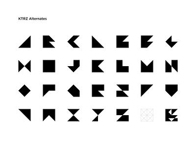 KTRZ Alternates minimal logo design font design font typography