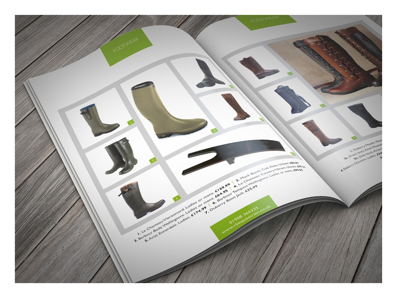 RB Equestrian catalogue print management design for print artworking visual identity graphic design