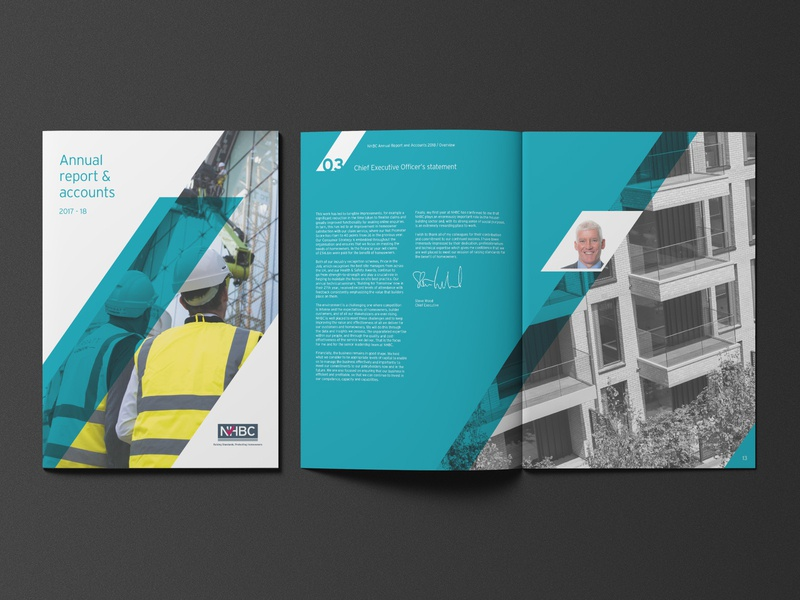 NHBC Annual Report 2018 corporate brochure annual report layout design brochure design brochure layout graphic  design