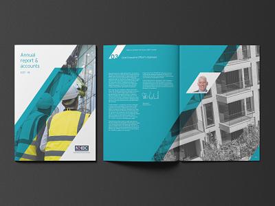 NHBC Annual Report 2018 corporate brochure annual report layout design brochure design brochure layout graphic  design