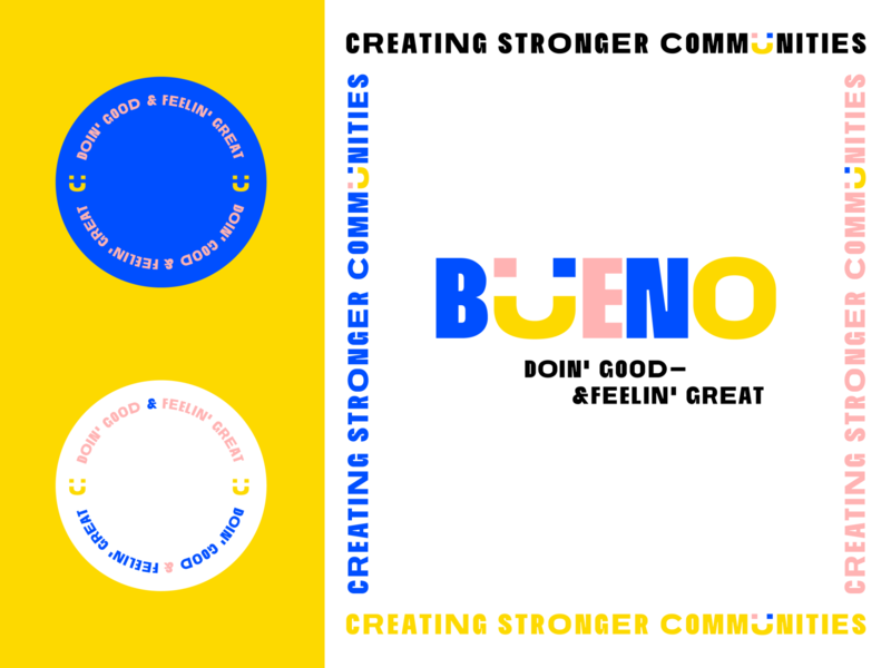 Bueno Branding vector art vector mockup business card stickers badges lock up colorful shapes giphy gif motion graphics animation wordmark typography logotype bueno brand design logo branding