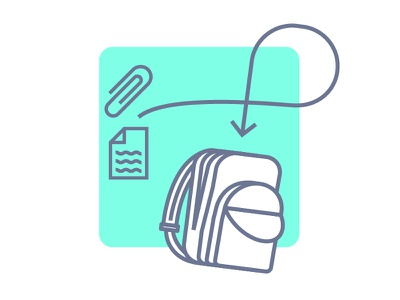Stash Empty State design ethan fowler ux teal files stash backpack icon app