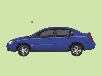 Saturn Ion Vector adobe illustrator automotive illustration vector art saturn ion car vector