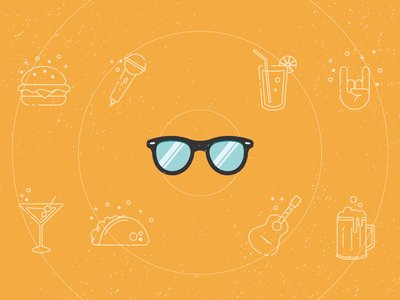 Personal Hipster Medium Cover alexa icon illustration happy hour hipster icons illustration medium article cover google assistant
