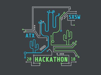 SXSW Hackathon T Shirt Design