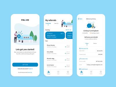 Mortgage referral mobile app finance app finance fintech referral ui ux design mobile ui mobile app mortgage app mortgage
