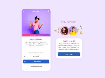 Refer a friend app design refer referee uiux mobile ui design mobile mobile app design invite friends referral refer a friend
