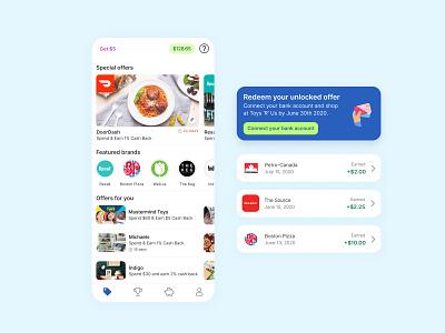 Cash back app promotions offer offers earnings mobile design design ux mobile ui mobile app cash app cashback cash back