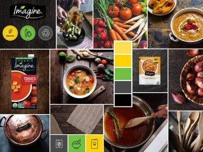 ImagineFood's Moodboard kitchen cooking vegetables visual photography ui illustrations soup food conept design moodboard