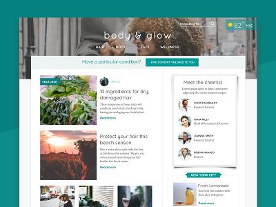 HAIN Personal Care  beach summer science plants visual wellness website content ux hair design blog