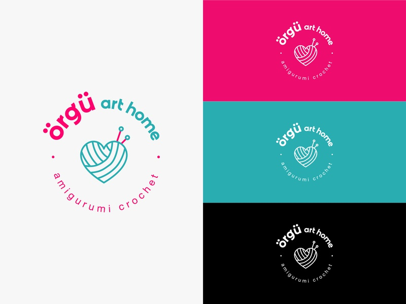 Örgü Art Home Logotype design icon type logotype illustration logo design minimal logo identity branding