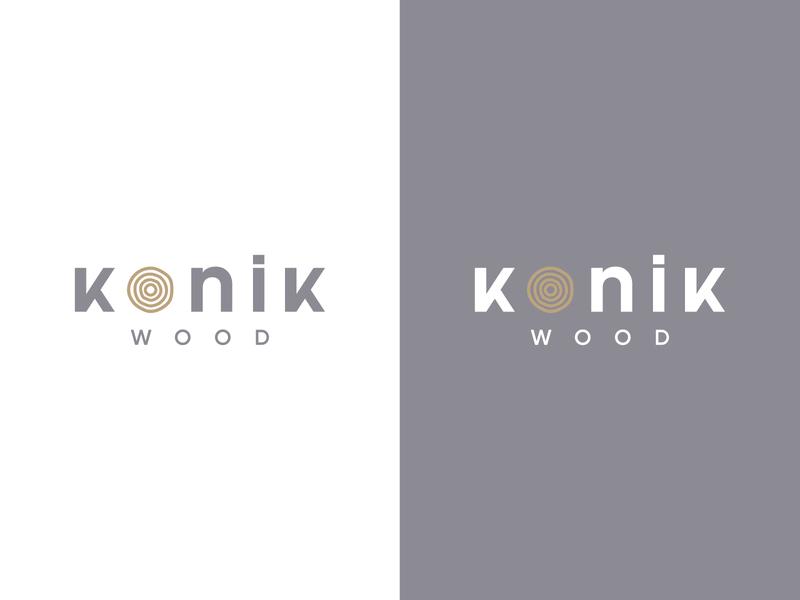 Konik (Conic) Wood vector branding icon website minimal identity flat design graphic logotype logo