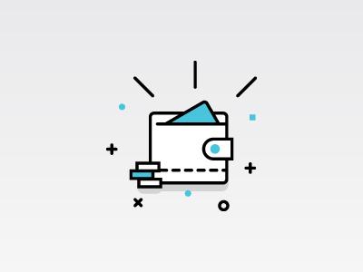 Wallet Icon wallet illustration money icon vector line