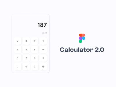 Calculator UI Concept - Figma