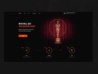 LIGA Oscars 2020 Desktop ux design ui design ux 3d illustration ui web design