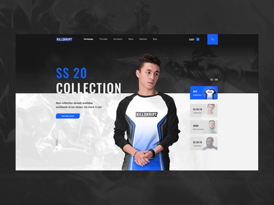Killskript Shop e-sports sports interaction animation interaction design interaction interface design ux ui design ui web design