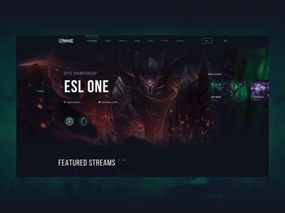 E-sports Pandemic template interaction animation interaction design interaction ux design landing page ux ui design ui web design