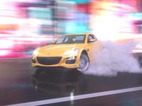 Drift on Neon Street. Mazda RX-8.