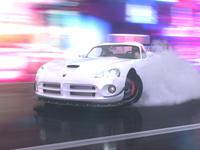 Drift on Neon Street. Dodge Viper SRT10 ACR.