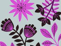 Tropical leaves pattern flowers