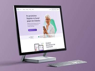 Vitadio – New Website is Live! site purple surface desktop live website web vitadio health branding illustration ux design ui