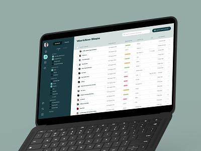 Content Management Platform evidence plan planning data content dashboard table light ux design app ui