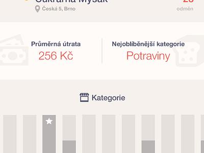 iOS App - Analytics dashboard dashboard graph analytics chart light mobile ux ui flat orange app ios