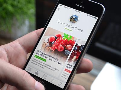 Tasty App for Food Lovers menu screen detail profile design branding ux iphone ui app
