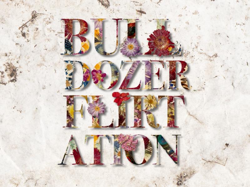 Bulldozer Flirtation design floral bodini typography