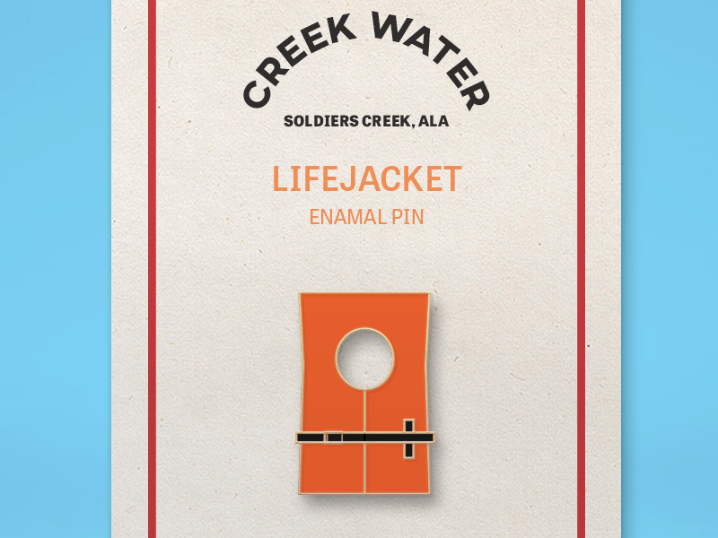 Creek Water Enamel Pin typography vector blue orange branding logo illustrator photoshop illustration design