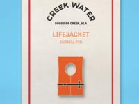 Creek Water Enamel Pin