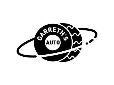 Garreth's Auto identity card identity brand repair auto space illustration design logo