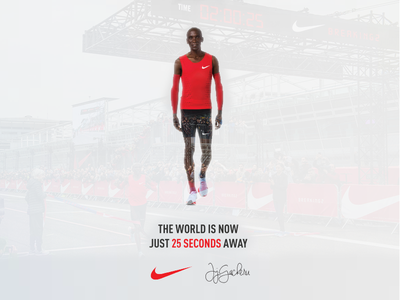 Eluid Kipchoge Nike #Breaking2 eluid kipchoge kenya double exposure breaking2 nike
