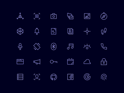 Icons for Expo blue thin collection ios icons lined set dark line icon