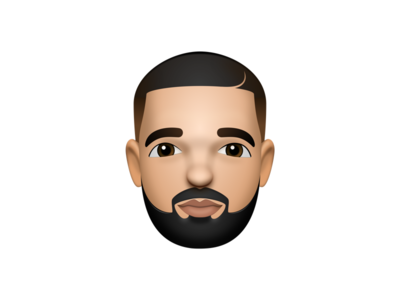 Drizzy drake sketch sketchapp 3d skeumorphic portrait face emoji apple design illustration
