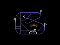 Tracking editorial flag cycling map signal beacon black blue bike racing race icon icons illustration