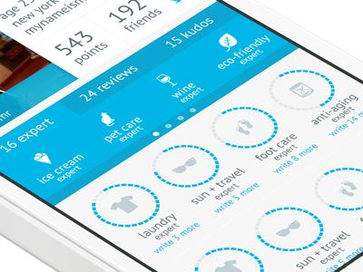 Consmr ios app mobile profile iphone ux ui expert status chart graph