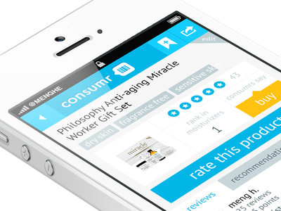 Consmr ui ux tags product ios apple iphone app mobile