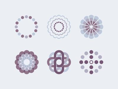 SocialFlow Conductor Suite Branding logo branding identity startup icon flower system purple link target