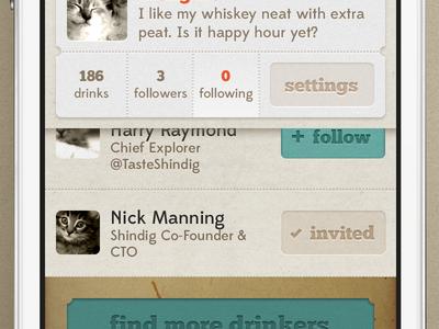 Shindig iOS App Profile