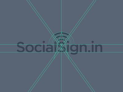 SocialSign.in Branding branding logo identity grid typography logotype startup