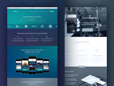 SocialSign.in Marketing Website Redesign 2014 & 2015 ux ui startup redesign website marketing